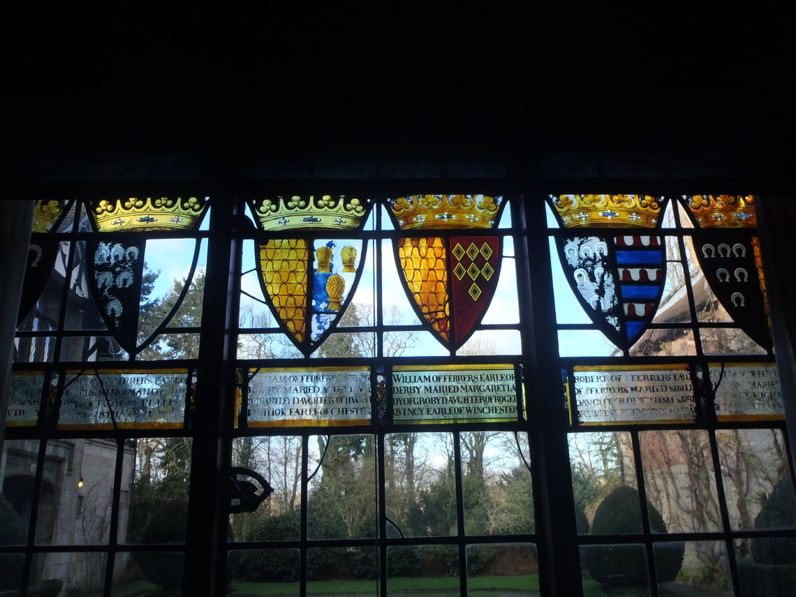 Old marriages shown in stained glass