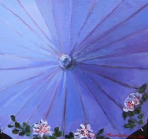 Blue Parasol by Elizabeth Moore-Golding