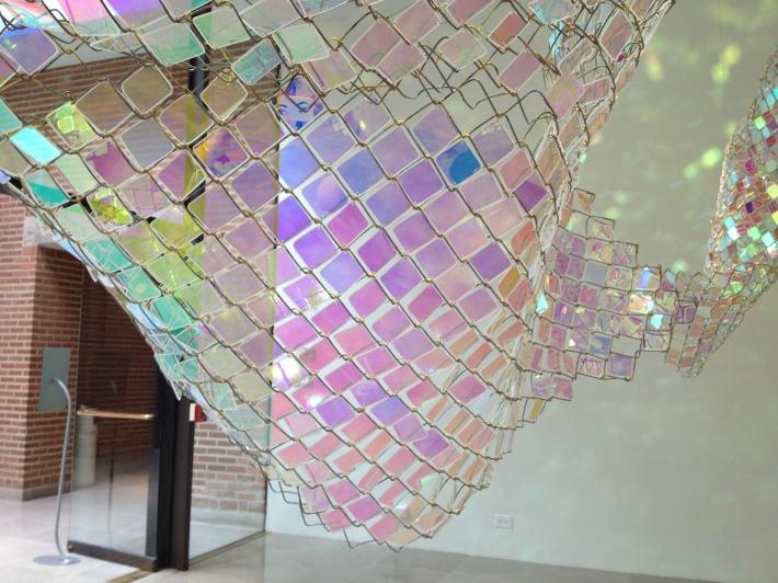 Violet side taken from inside the installation