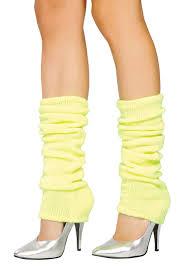 yellow leg warmers