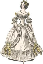 1800's fashion drawing