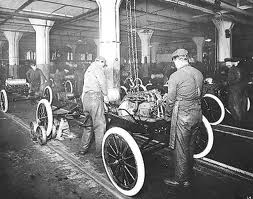 Workers in Henry Ford factory
