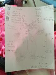 Sketch for harlequin suit
