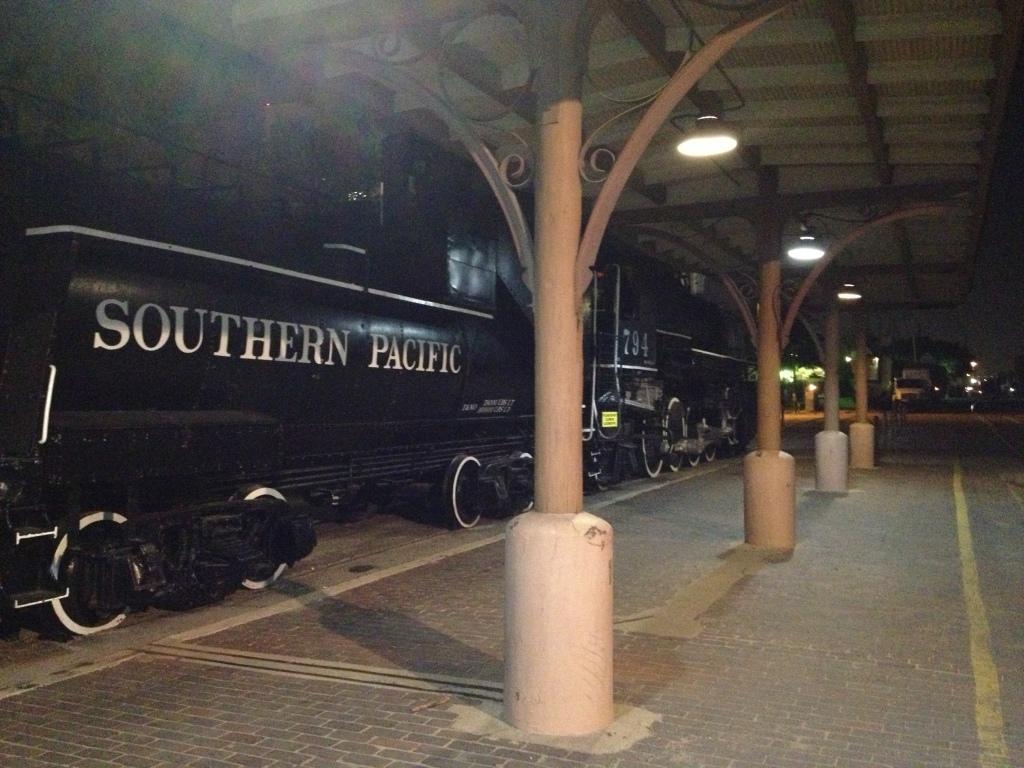 Southern Pacific locomotive at San Antonio Station