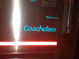 Coachclass on the outside of the train