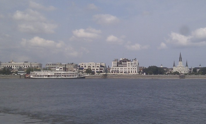 View of the French Quarter from across the Mississippi