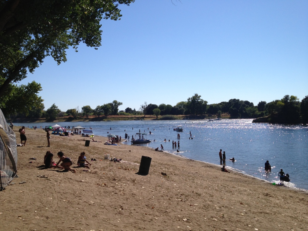 Riverside beach