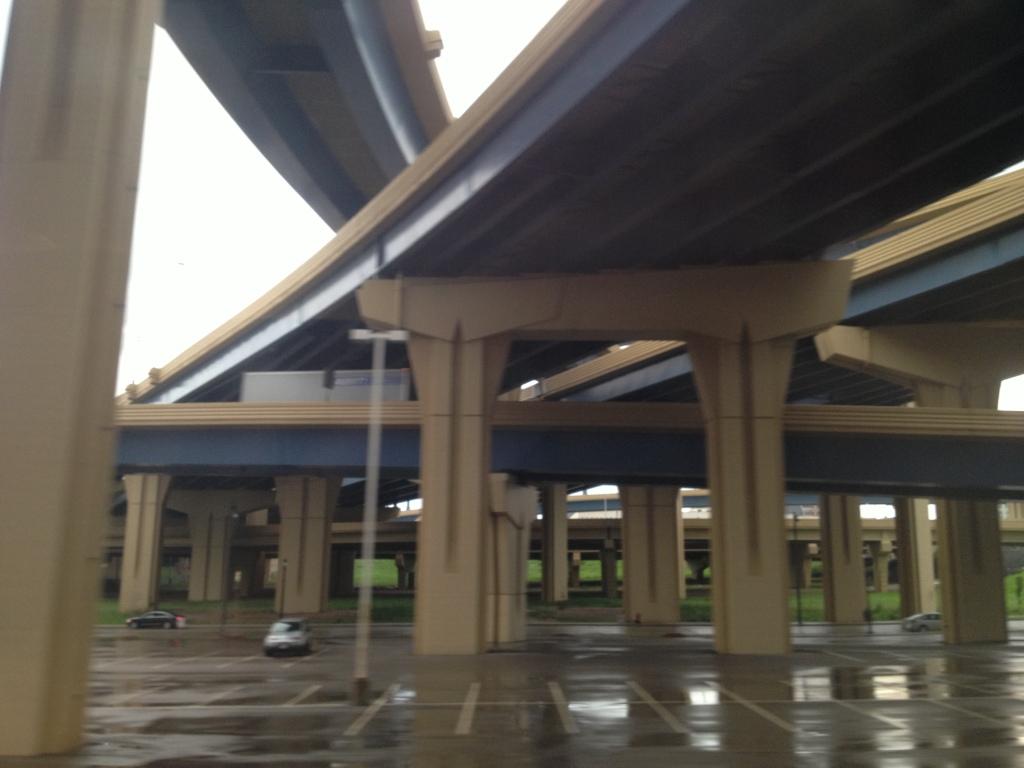 Blue Milwaukee underpasses