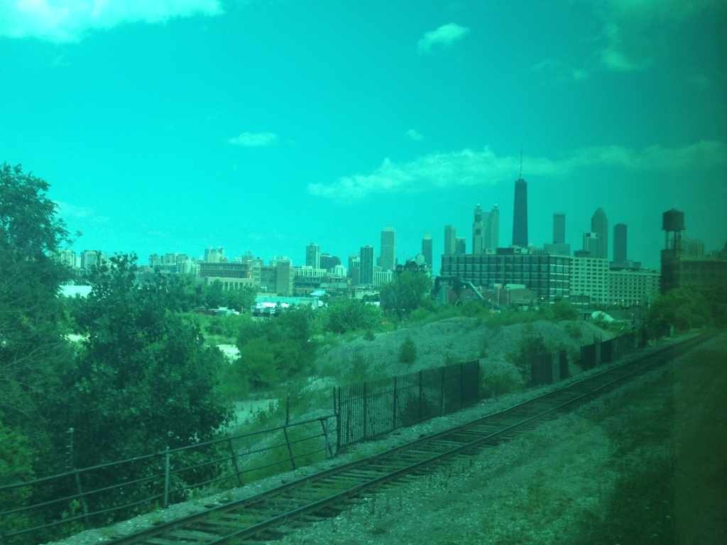 View from the Metra train from Evanston
