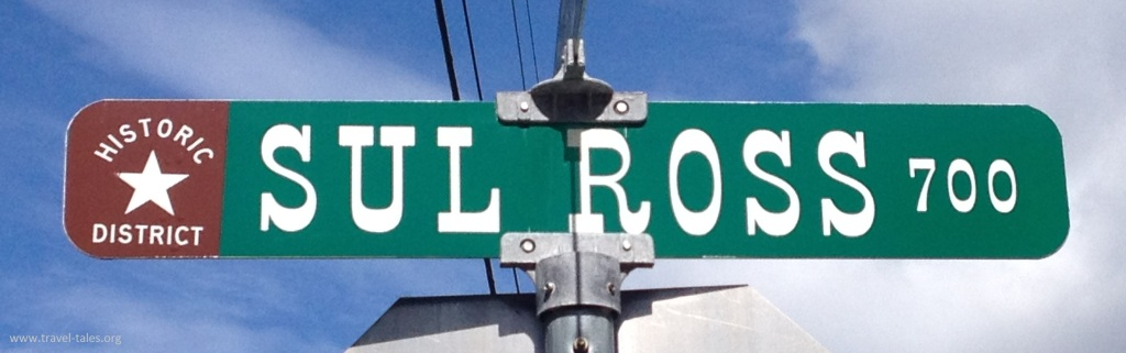 sul ross street sign