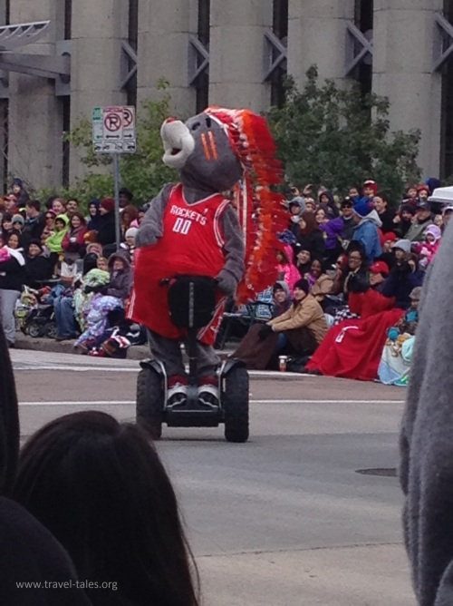 Basketball team the Houston Rockets let their mascot travel on a segway