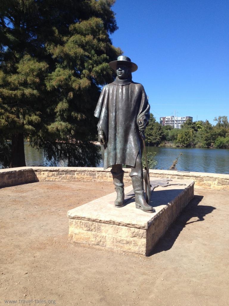 Stevie Ray Vaughan at Lady Bird Lake, Austin TX