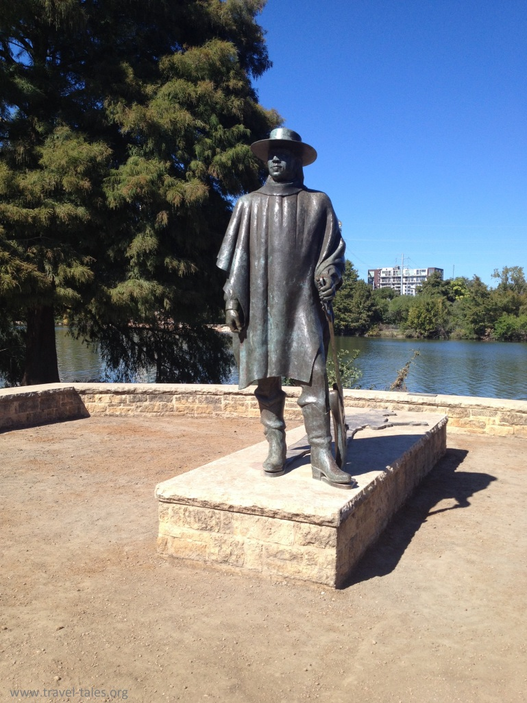 Stevie Ray Vaughan at Lady Bird Lake, Austin TX