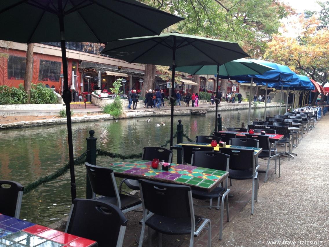 Riverwalk river level cafes