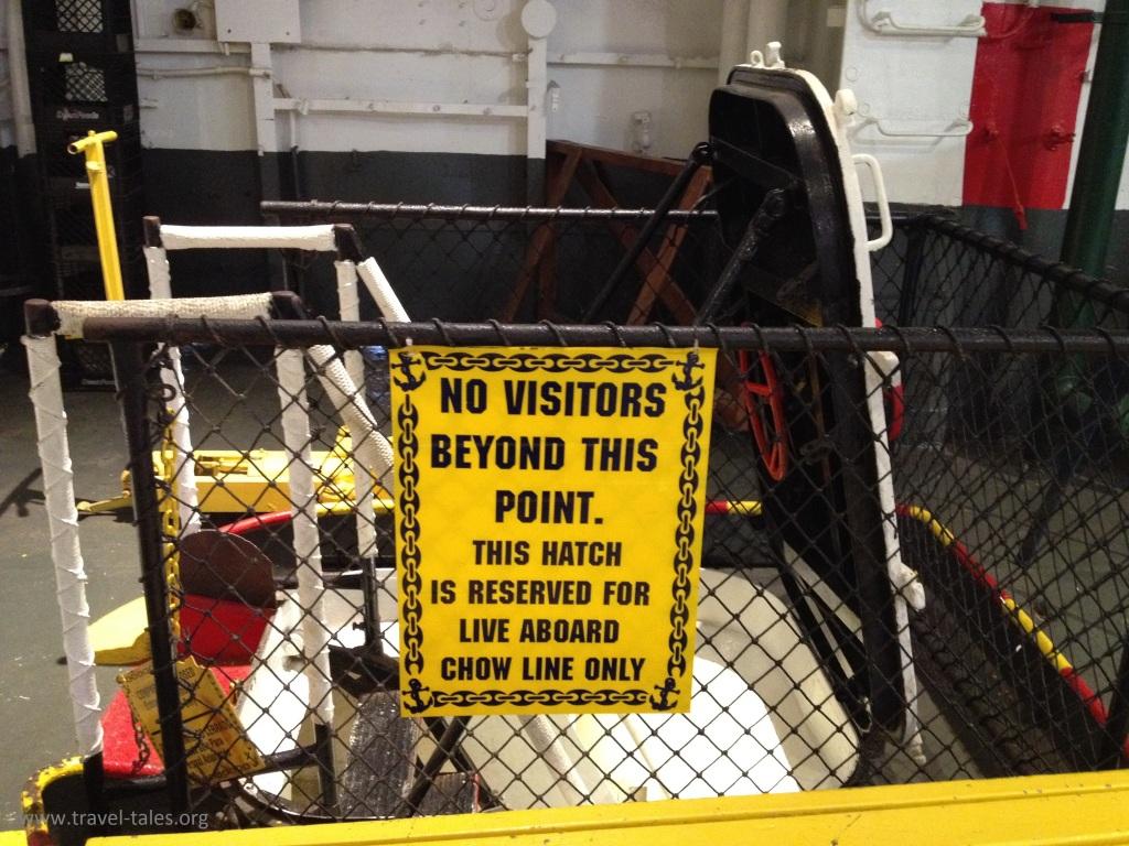 USS Lexingtonlive aboard chow line