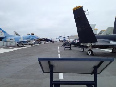 USS Lexington runway