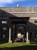 Inside mausoleum