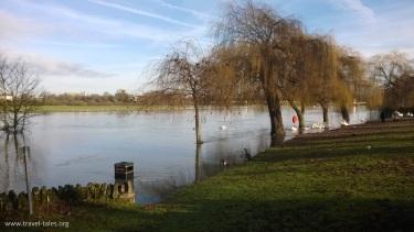 flooded Thames
