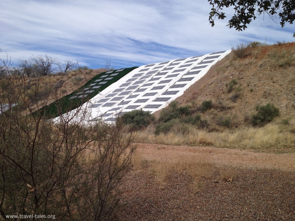 solar panel array at biosphere