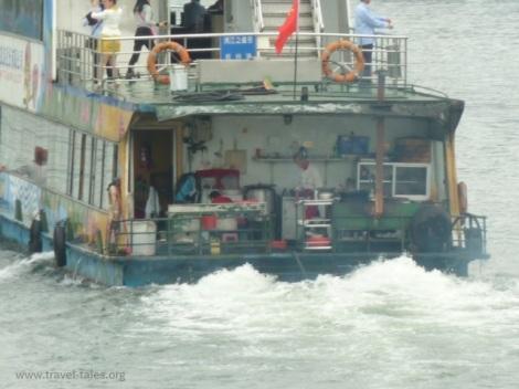 boats Guilin 33 Li river cruise 2 ship's kitchen