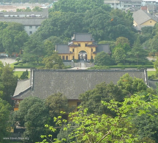 Guilin 228 cropped Princes Palace gatehouse from mountain