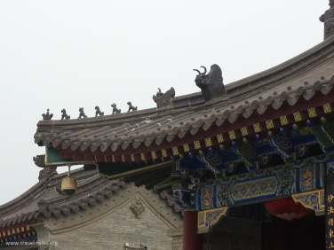 Xi'an 13 Goose pagoda animals on roof to keep evil spirits away