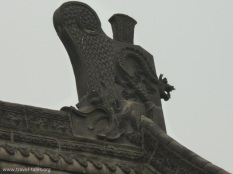 Xi'an 23 Goose pagoda mythical figure on roof for protection