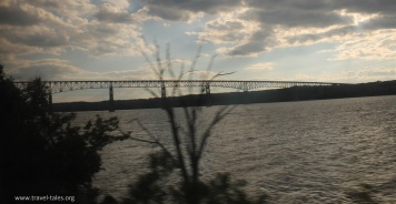 Approaching bridge over the Hudson
