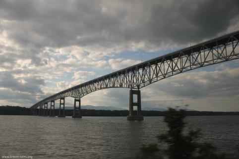 having passed under the bridge over the Hudson
