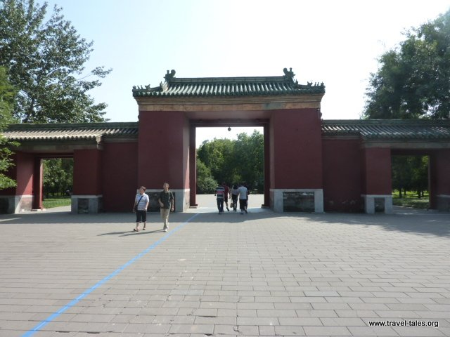 Triple gate leading to hall of fasting
