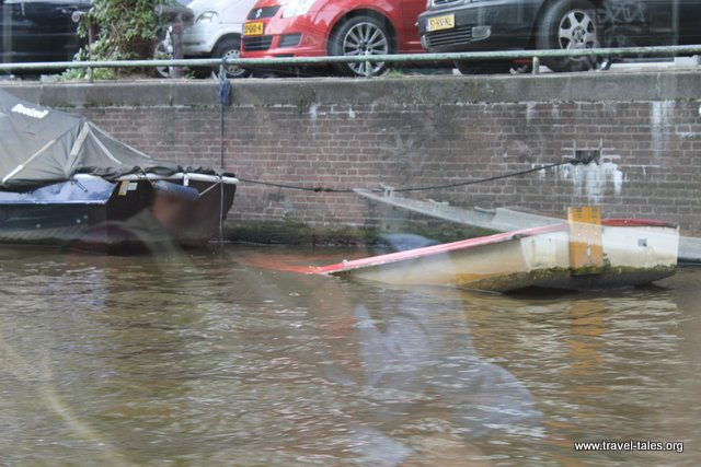 Sinking boats are removed by the waterways authority every now and again